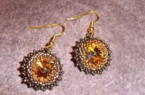Amber Sunburst Earrings