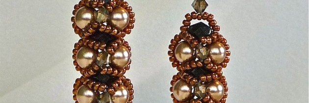 Bright Gold and Bronze Embassy Earrings