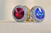 Garnet and Sapphire Rings