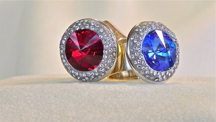 Garnet and Sapphire Ring rs