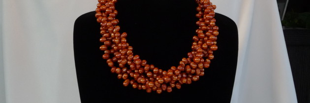 Tangerine Fresh Water Pearl Necklace