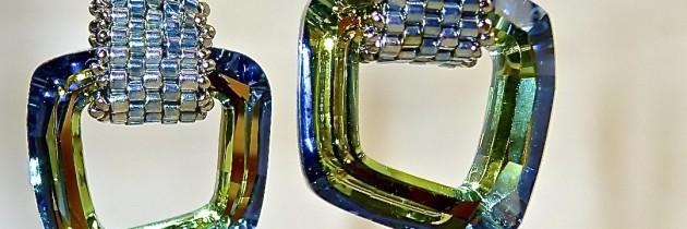 Geometric Diamond Hoop Earrings