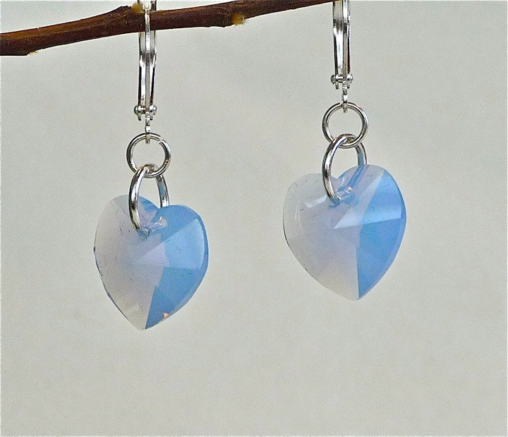 Periwinkle Opal Heart Earrings rs