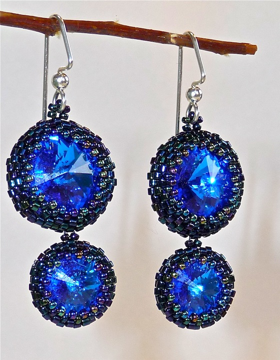Sapphire Double Drop Earrings rs