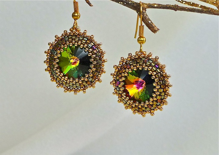 Vitral Sunburst Earrings rs