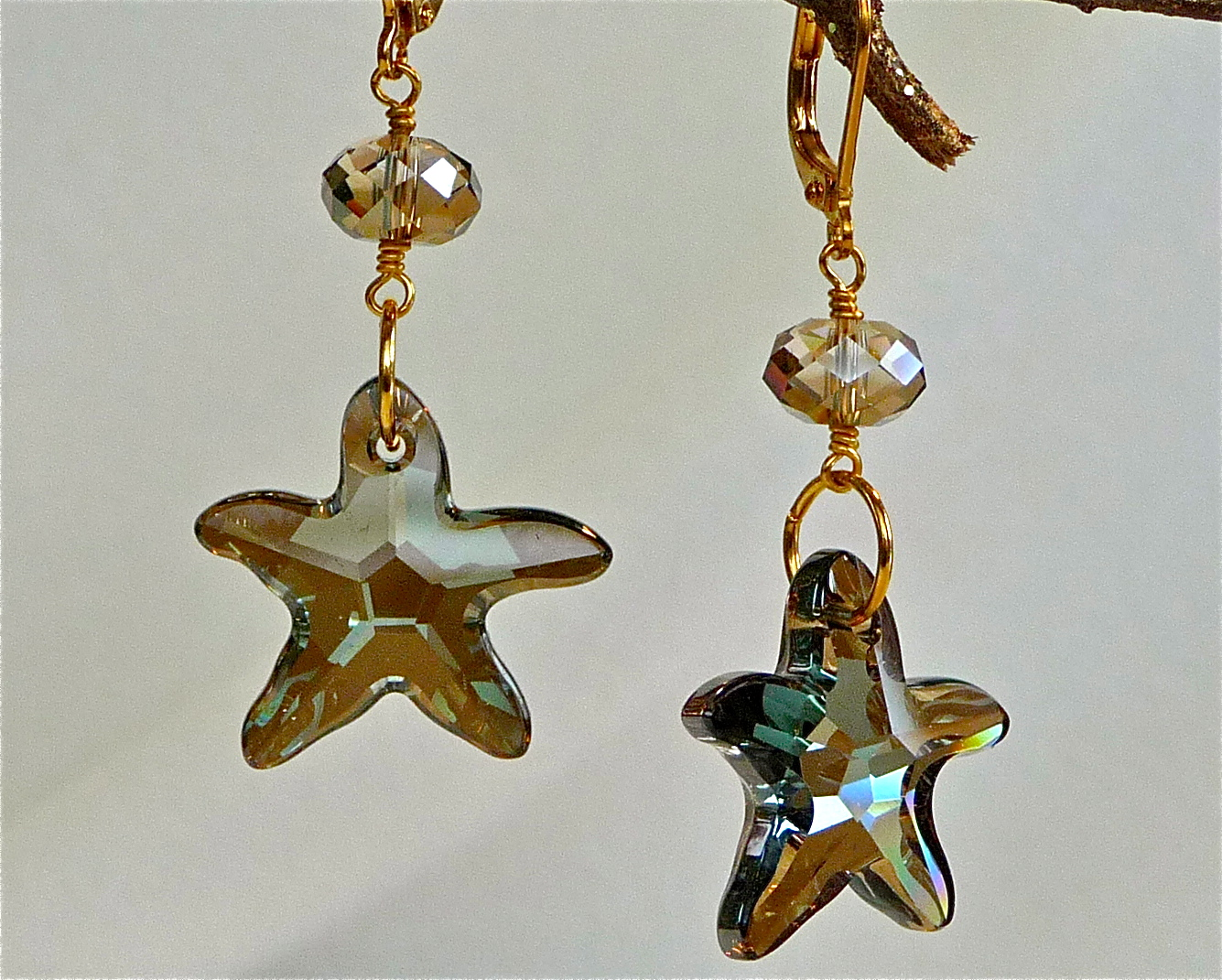 Starfish Bronze Shade Earrings