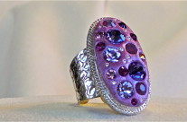 Large Oval Purple Ring