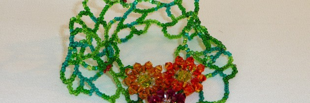 Swarovski Crystal Flowers on Vine Bracelet