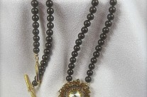 Golden Amber Sunburst Necklace