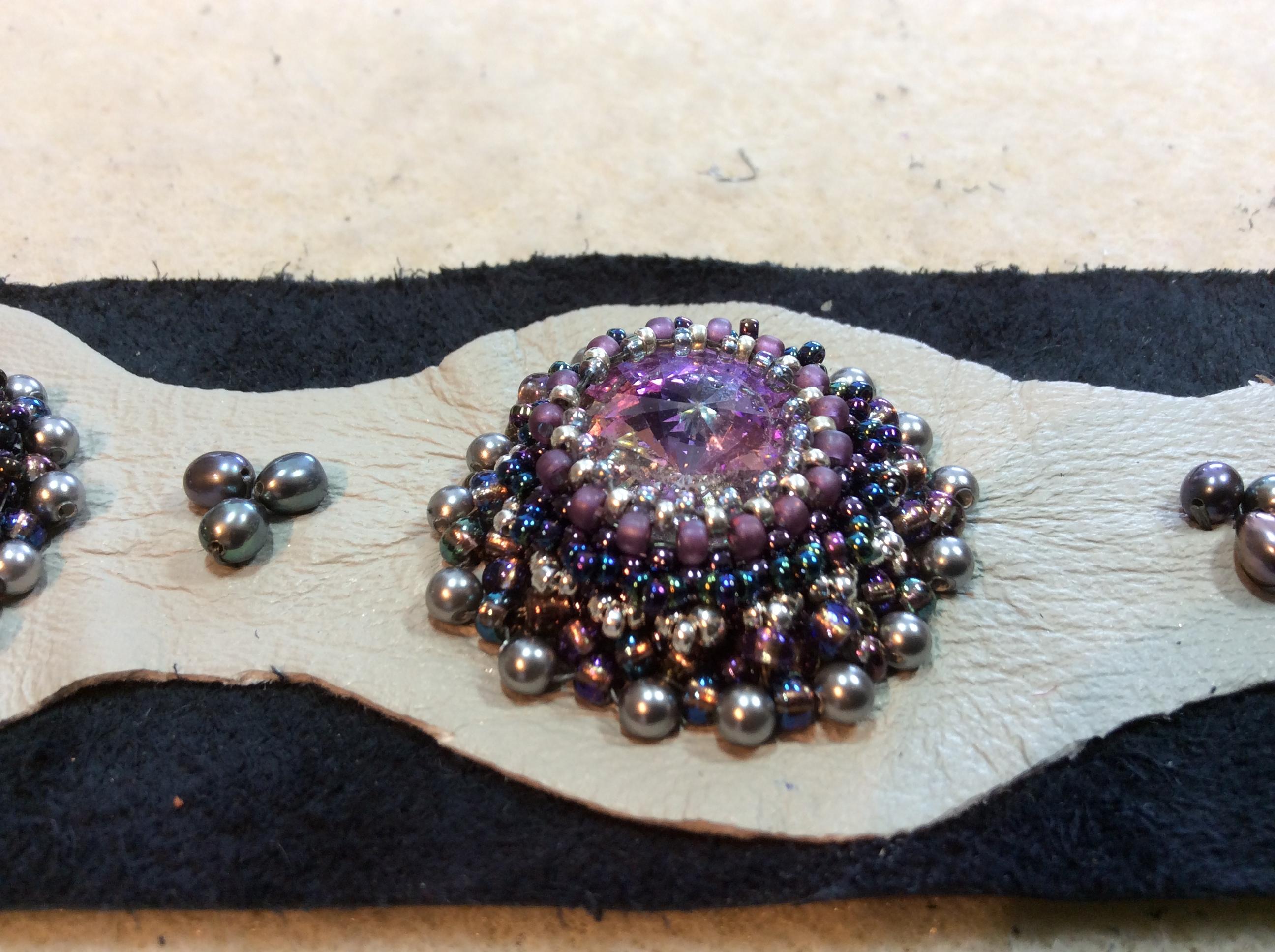 Wrok in Progress - Embroidered Cuff