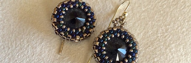 Swarovski Onyx Earrings