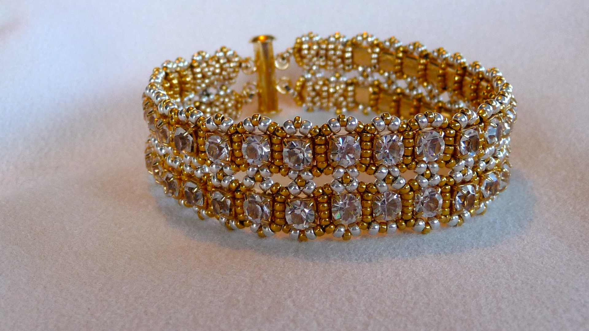 Swarovski Crystal and Gold