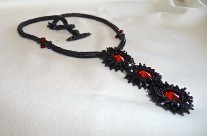 Black Beauty Beaded Necklace