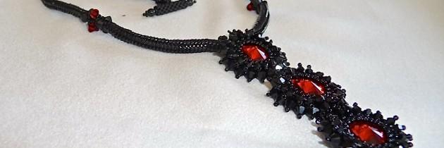Black Beauty Beaded Necklace