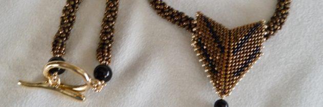 Bronze Swarovski Crystal Pendant Necklace