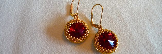 Ruby & Gold Earrings